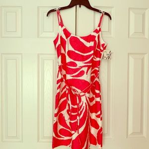 Milly Dresses - NWT Milly Fuchsia and White print dress